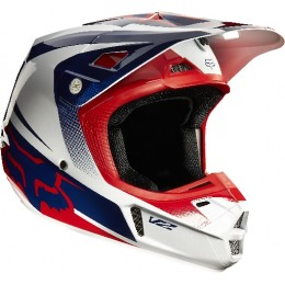 Casque FOX RACING V2 Imperial White / Blue / Red 2015