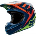 Casque FOX RACING V1 RACE Navy / Yellow 2015