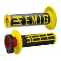 Poignées ODI Lock-On - EMIG V2 Black / Yellow