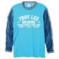 Maillot TROY LEE DESIGNS - SUPER RETRO Cyan 2015