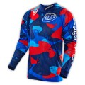Maillot TROY LEE DESIGNS - GP Air Cosmic Camo Blue 2016