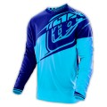 Maillot TROY LEE DESIGNS - GP Air Flexion Cyan Navy 2016