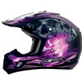 Casque AFX FX-17 Inferno Black / Fuschia
