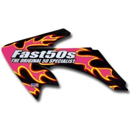 Kit déco FAST50's PINK FLAME CRF 50