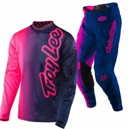 Tenue TROY LEE DESIGNS (ENFANT) - GP Air 50/50 Rose Fluo / Bleu 2017