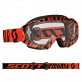 Masque SCOTT Hustle MX Noir / Orange Fluo (écran Clair)