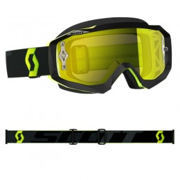 Masque SCOTT Hustle MX Noir / Jaune Fluo (écran Chrome Jaune)