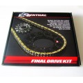 Kit chaine RENTHAL - CR 250R (2002/03) et (2007), CRF450 (2004/08)