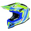 Casque JUST1 J12 Flame Jaune / Bleu