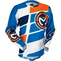 Maillot MOOSE RACING M1 Orange / Blue / Cyan 2017