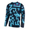 Maillot TROY LEE DESIGNS GP Air Maze Turquoise Bleu 2018