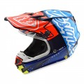 Casque TROY LEE DESIGNS SE4 Composite Factory Bleu 2018