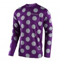 Maillot TROY LEE DESIGNS GP Polka Dot Violet Gris 2018