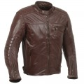 Blouson RIDE & SONS Getaway Leather Jacket Oxblood