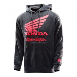 Sweatshirt TROY LEE DESIGNS Honda Wing Charcoal Pullover