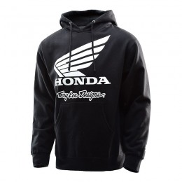 Sweatshirt TROY LEE DESIGNS Honda Wing Black Pullover