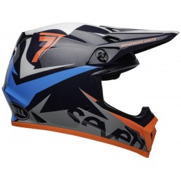 Casque BELL MX-9 MIPS Seven Ignite Gloss Navy Coral