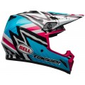 Casque BELL MX-9 MIPS Tagger Asymmetric Gloss Blue Pink