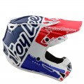 Casque TROY LEE DESIGNS SE4 Polyacrylite Factory white blue