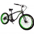 VTC électrique BUD RACING Beach Cruiser Black Green
