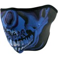 Demi masque ZAN Blue Chrome Skull