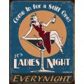 Plaque métal Ladies Night