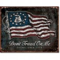 Plaque métal Don't Tread On Me