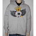 Sweatshirt METZGER UNLIMITED zippé - Flying Eye Gris