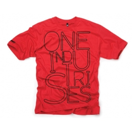 Tee shirt ONE INDUSTRIES - Neon Rouge 2010