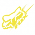 Sticker FOX RACING - Illusion Yellow