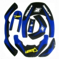 Kit sticker BLACKBIRD pour LEATT BRACE - BLEU