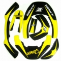 Kit sticker BLACKBIRD pour LEATT BRACE - JAUNE