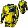 Maillot O NEAL - ELEMENT TOXIC Black/Yellow 2012