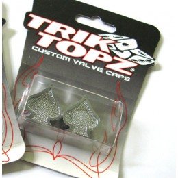 Bouchons de valve TRIKTOPZ As de Pic Chrome