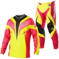 Tenue complète TROY LEE DESIGNS - GP Air MIRAGE Yellow / Pink 2013