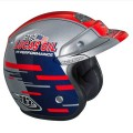 Casque TROY LEE DESIGNS - Open Face - LUCAS OIL Silver / Red 2013