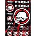 Planche de stickers FACTORY EFFEX - METAL MULISHA
