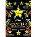 Planche de stickers FACTORY EFFEX - ROCKSTAR Yellow