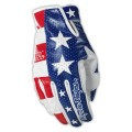 Gants TROY LEE DESIGNS cuir - PETER FONDA Red / White / Blue Orange / Blue