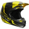 Casque FOX RACING V1 ROCKSTAR Black / Yellow 2015